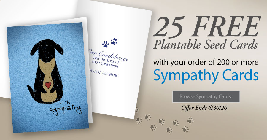 25 Free Plantable Paper Seed Cards with your order of 200 or more Sympathy Cards!