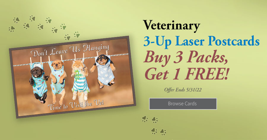 Buy 3 Packs of 3-Up Postcards and Get 1 Pack Free!