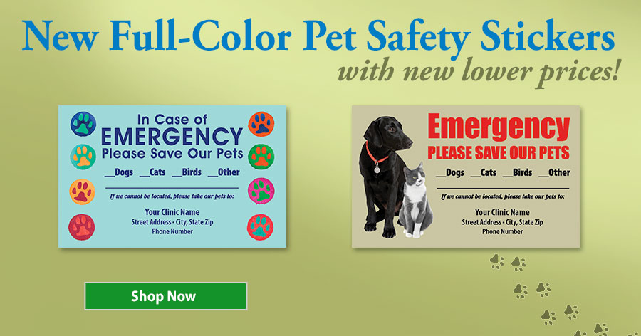New Designs and Lower Prices on Pet Safety Stickers!