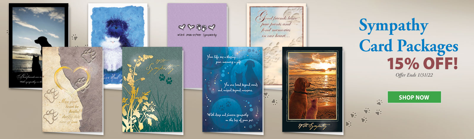 15% Off All Sympathy Card Assortment Packs!