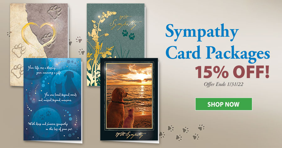 10% Off Veterinary Sympathy Cards Packs