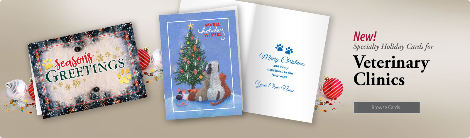 New Vet Holiday Card Designs Plus FREE Ground Shipping!
