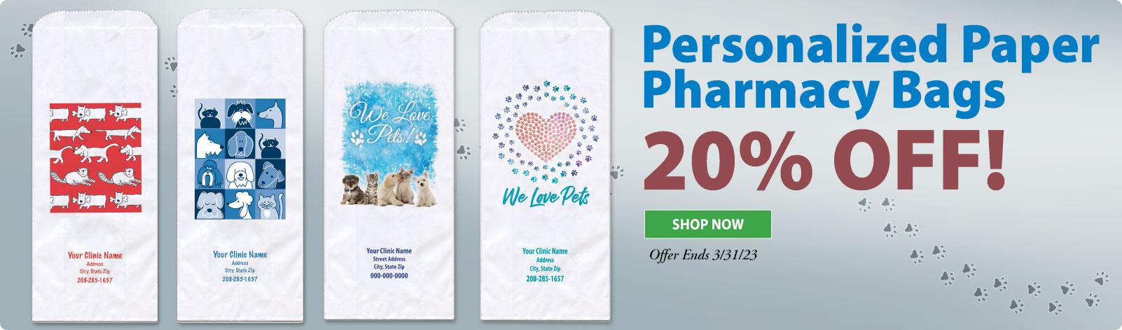 20% Off Veterinary Pharmacy Bags!