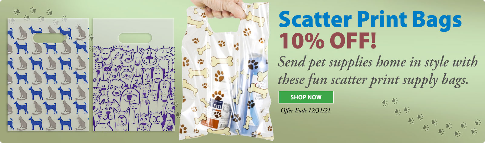Save 20% on Scatter Print Bags!