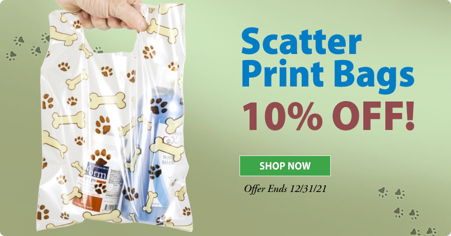 20% Off Veterinary Scatter Print Supply Bags!