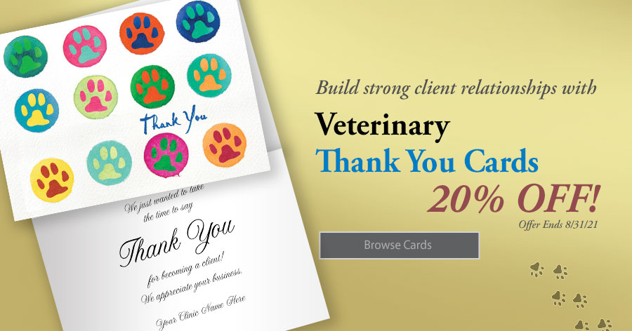 20% Off All Vet Thank You Cards!