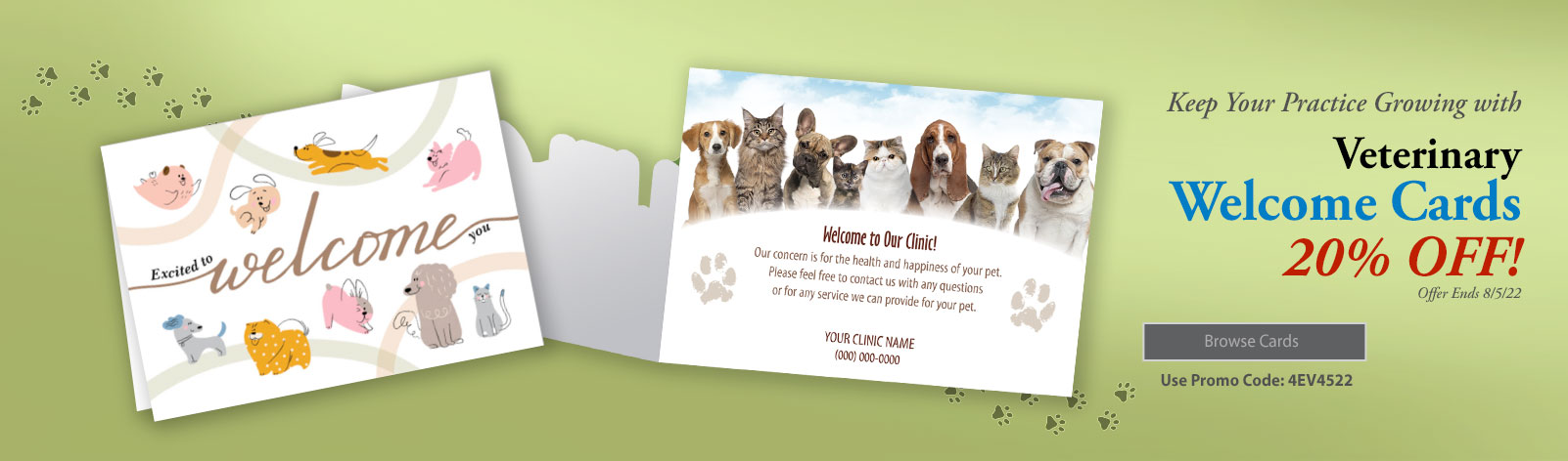 20% Off All Welcome Cards!!