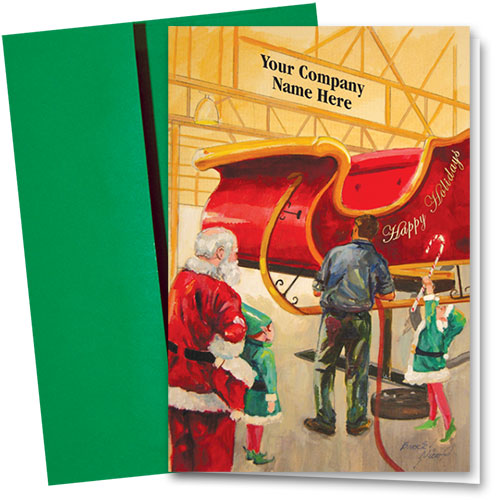 Double Personalized Full-Color Automotive Holiday Cards - Special Job
