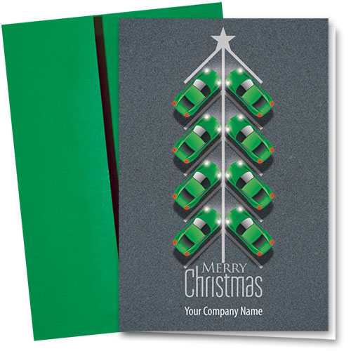 Double Personalized Full Color Holiday Card- Holiday Parking