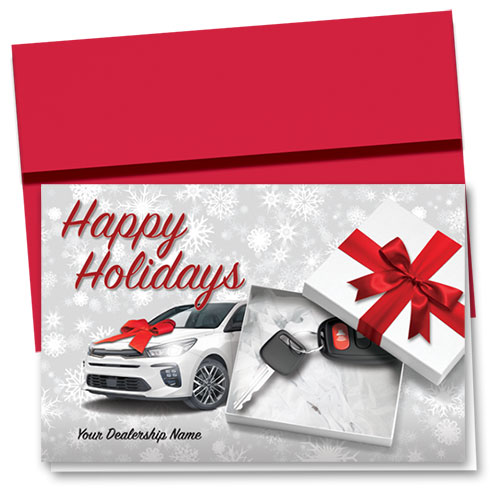 Double Personalized Full Color Holiday Card- Dealership Greetings