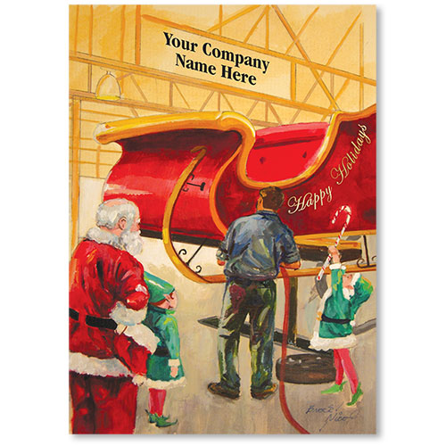 Double Personalized Full-Color Automotive Holiday Postcards - Special Job