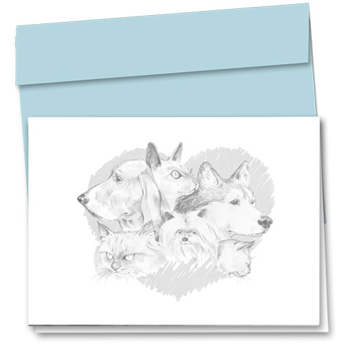 Pet Sympathy Cards - Dogs & Cats In Heart
