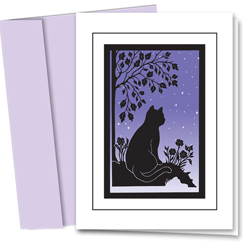 Pet Sympathy Cards - Sympathy Peaceful Cat