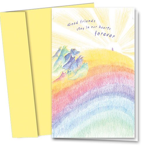 Pet Sympathy Cards - Rainbow Dream