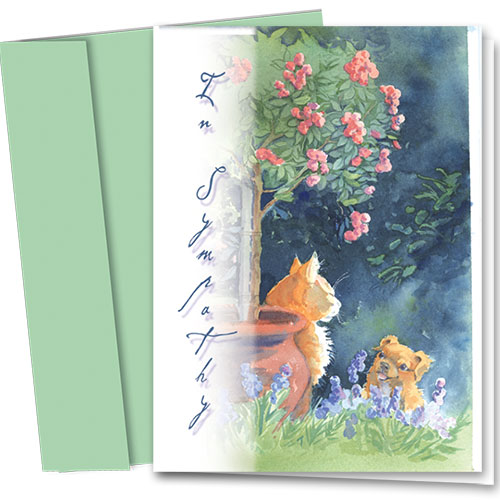 Pet Sympathy Cards - Secret Garden