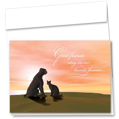 Pet Sympathy Cards - Good Friends