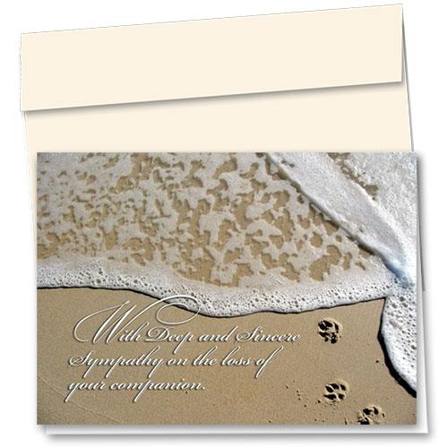 Pet Sympathy Cards - Seaside Dog Prints
