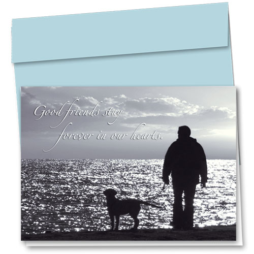 Dog Sympathy Cards - Sunset Goodbye