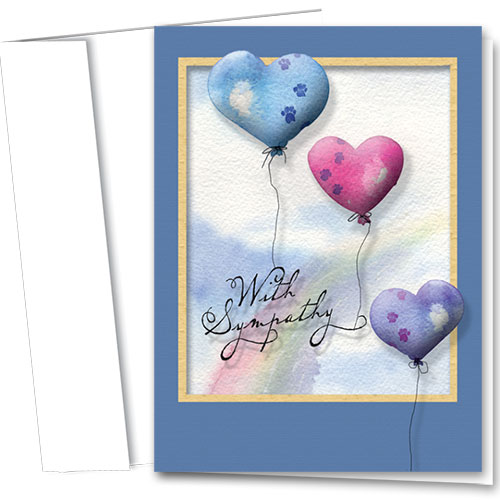 Pet Sympathy Cards - Balloons Of Love