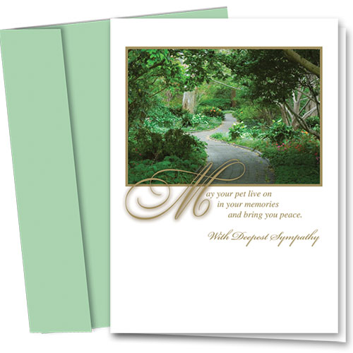 Pet Sympathy Cards - Garden Memory