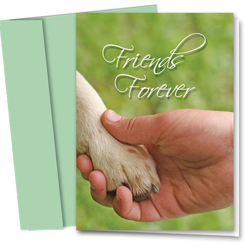 Dog Sympathy Cards - Friends Forever