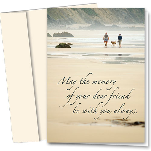 Pet Sympathy Cards - Walk On Beach