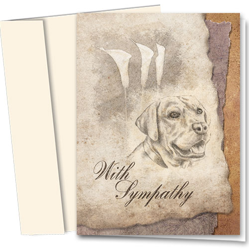 Dog Sympathy Cards - Etched In Memory