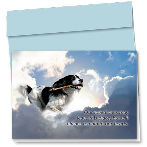 Dog Sympathy Cards - Serene Clouds