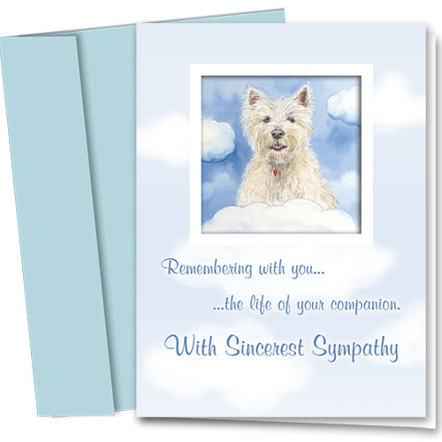 Dog Sympathy Cards - Remembering