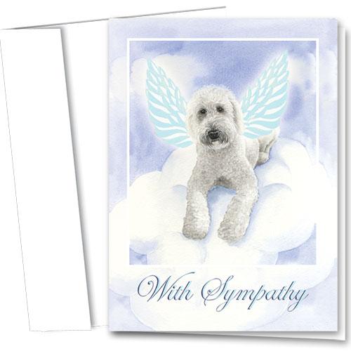 Dog Sympathy Cards - Angel Wings