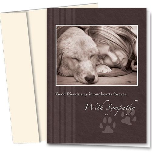 Dog Sympathy Cards - Sympathy Slumber