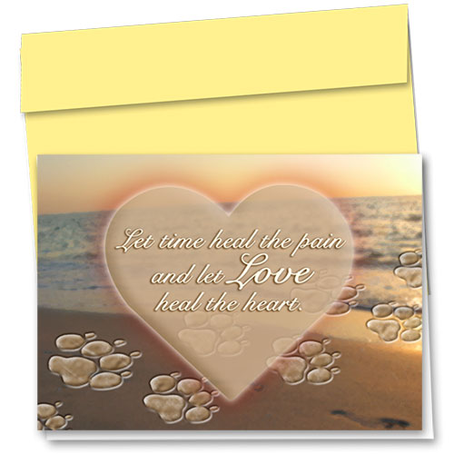 Pet Sympathy Cards - Paws In The Sand