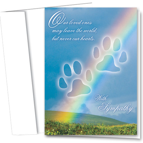 Pet Sympathy Cards - Rainbow Paws