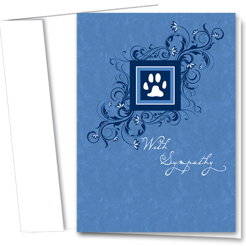 Pet Sympathy Cards - Blue Elegance