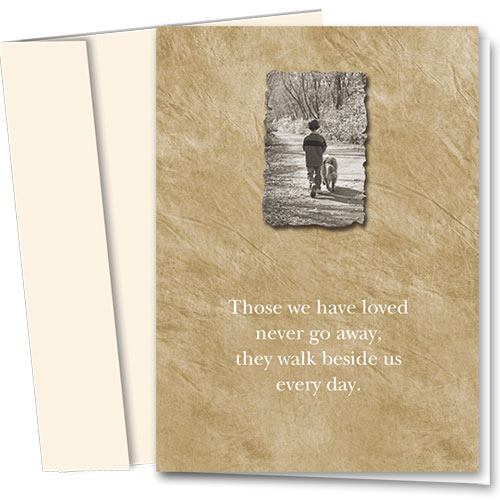 Dog Sympathy Cards - Walk Beside Us