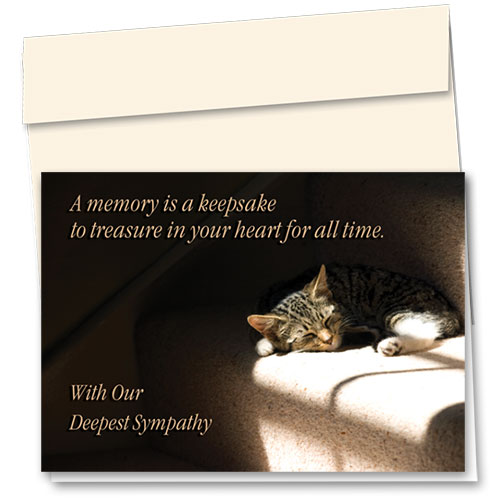 Cat Sympathy Cards - In Your Heart