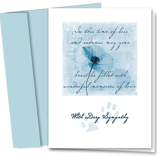 Pet Sympathy Cards - Wonderful Memories