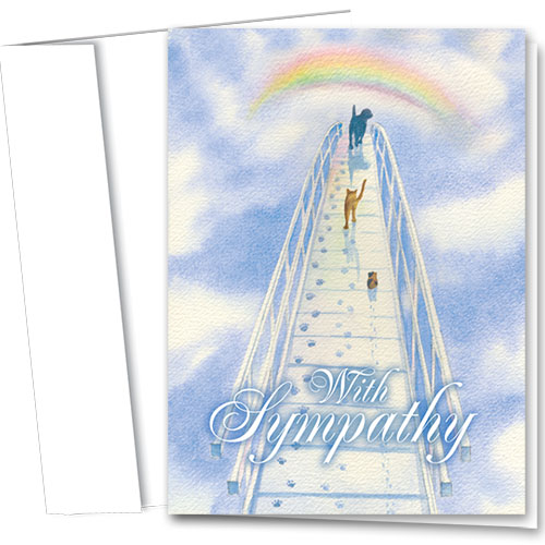 Pet Sympathy Cards - Over the Bridge