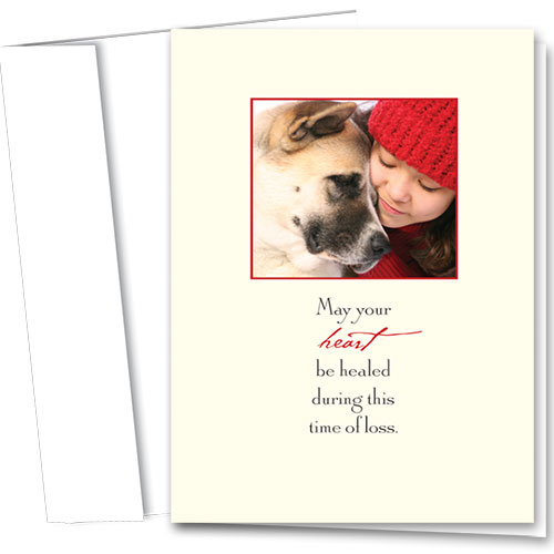 Dog Sympathy Cards - Healing Heart