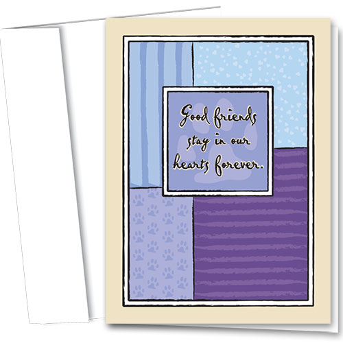 Pet Sympathy Cards - Hearts Forever