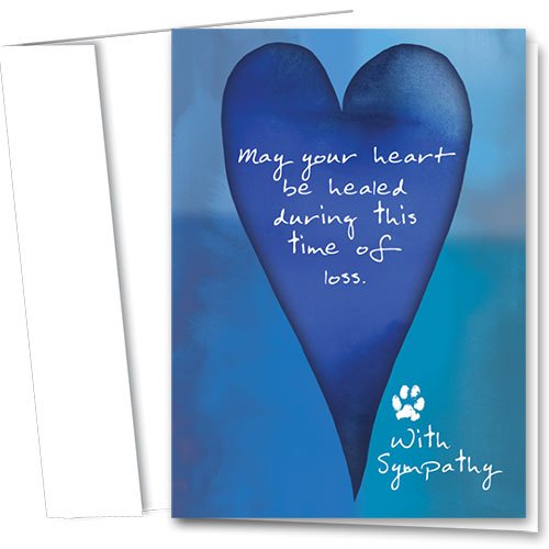 Pet Sympathy Cards - Blue Heart
