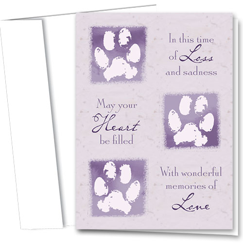 Pet Sympathy Cards - Memories of Love