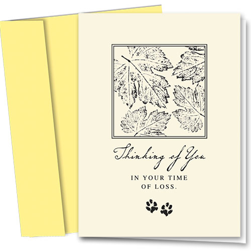 Pet Sympathy Cards - Leaf Print