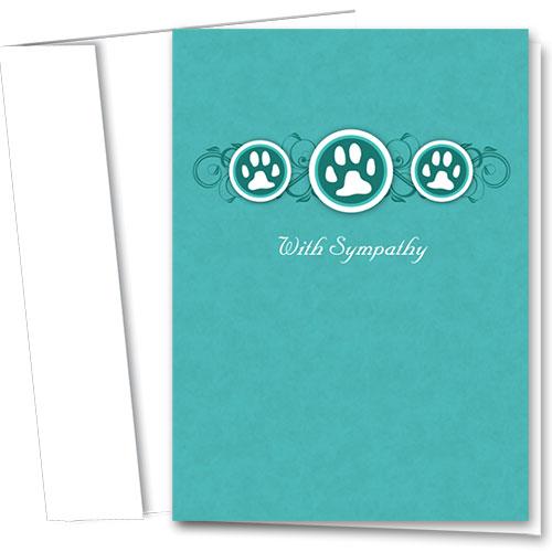 Pet Sympathy Cards - Three Paws