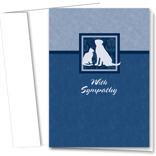 Pet Sympathy Cards - Sympathy Blues