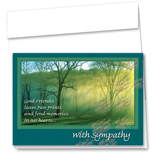 Pet Sympathy Cards - Forest Light
