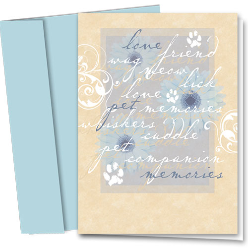 Pet Sympathy Cards - Blue Memories