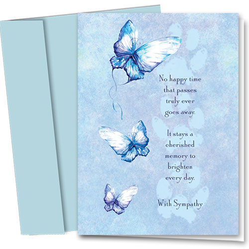 Pet Sympathy Cards - Butterfly Sympathy