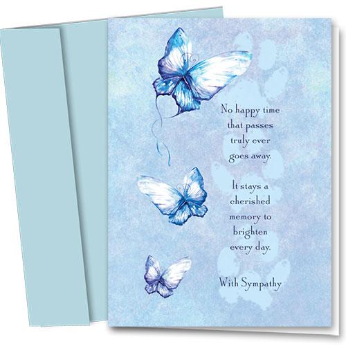 Pet Sympathy Cards - Butterfly Sympathy