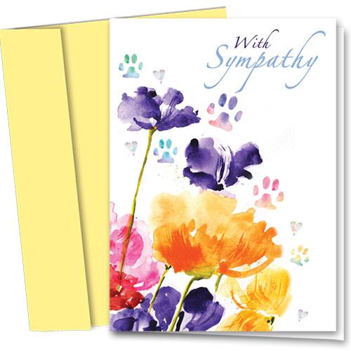 Pet Sympathy Cards - Sympathy Blooms